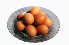 Eggs. A lot of brown chicken eggs Stock Photo