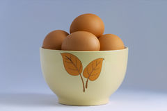 Eggs. Still life with eggs royalty free stock images