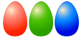 Eggs. Detail in rgb colors designed by illustrator Royalty Free Stock Photo