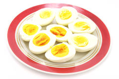 Eggs. Fresh eggs on the plate Royalty Free Stock Photo