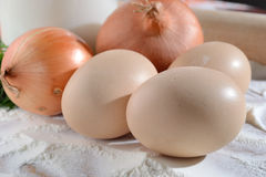 Eggs on the agony Royalty Free Stock Photography