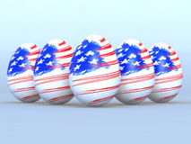 Eggs American flag Stock Photos