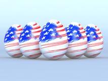 Eggs American Flag Stock Photos