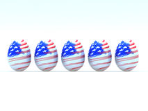 Eggs American flag Royalty Free Stock Photography