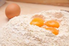 Eggs And Flour Stock Photos