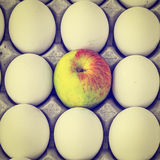 Eggs and Apple Royalty Free Stock Photo