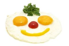 Eggs as a smiley Royalty Free Stock Images