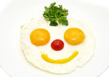 Eggs as a smiley Royalty Free Stock Photo