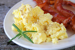 Eggs and Bacon stock images
