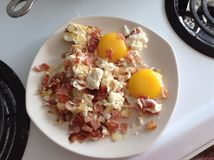 Eggs and bacon Royalty Free Stock Photography