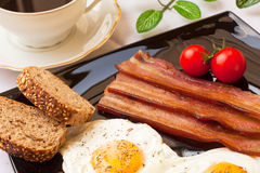 Eggs and bacon for breakfast Stock Photos