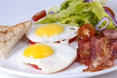Eggs with bacon Stock Photo