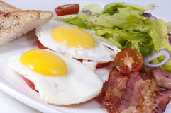Eggs with bacon Royalty Free Stock Photography