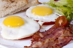 Eggs with bacon Royalty Free Stock Image