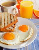 Eggs  and bacon for healthy breakfast . Stock Photo