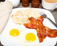 Eggs Bacon and Muffin Breakfast Royalty Free Stock Image
