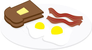 Eggs and Bacon on Plate Royalty Free Stock Image