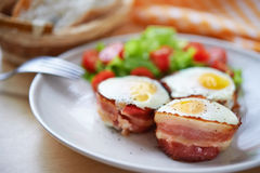 Eggs and bacon Stock Photos