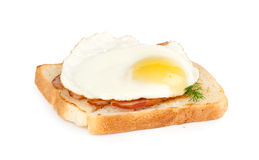 Eggs, bacon and toast. Breakfast. Eggs, bacon and toast Royalty Free Stock Image