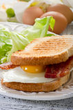 Eggs  bacon and toasted bread Stock Photography