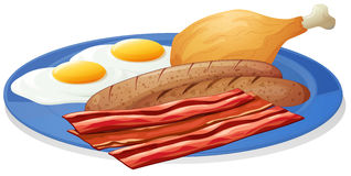 Eggs and bacons Stock Photography