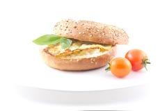 Eggs Bagel Stock Image