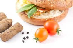 Eggs Bagel Stock Images