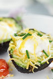 Eggs Baked in Avocado Royalty Free Stock Photos