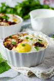 Eggs baked with meat Royalty Free Stock Photo