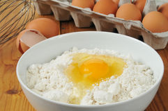 Eggs and baking mix Royalty Free Stock Photo