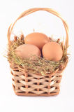Eggs in bascket Royalty Free Stock Photo
