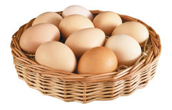 Eggs in basket. Royalty Free Stock Image