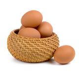Eggs in the basket Royalty Free Stock Photo