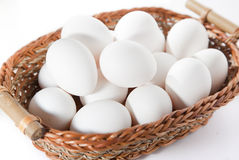 Eggs in the basket Stock Image