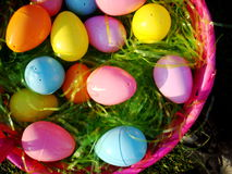 Eggs in a Basket. Easter eggs in a basket Royalty Free Stock Images