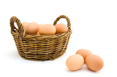 Eggs in a basket Stock Photography