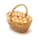Eggs in a basket. Eggs which are in a basket Royalty Free Stock Image