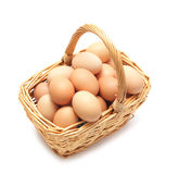 Eggs in a basket Stock Photos