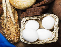 Eggs in the basket all baking Royalty Free Stock Photo