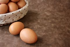 Eggs basket Royalty Free Stock Images