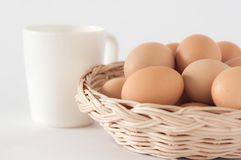 Eggs in the basket01 Stock Image