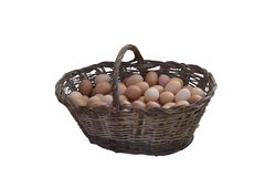 Eggs in a basket royalty free stock photography