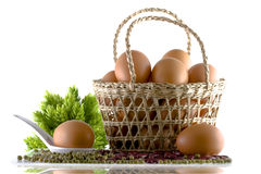 Eggs in the basket Royalty Free Stock Image