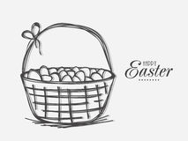 Eggs basket for Happy Easter celebration. Royalty Free Stock Photos