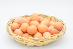 Eggs in a basket Stock Image