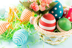 Eggs in the basket Royalty Free Stock Photography