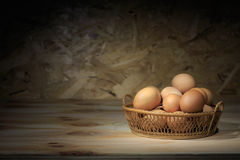 Eggs in the basket. Stock Photography