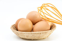 Eggs in the basket Royalty Free Stock Images