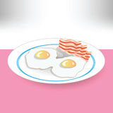 Eggs and becon Royalty Free Stock Photo