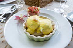 Eggs Benedict Breakfast Stock Photo